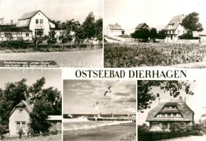 AK / Ansichtskarte Dierhagen Ostseebad Kinderferienlager Junge Garde Strand Moewen Kat. Dierhagen Ostseebad