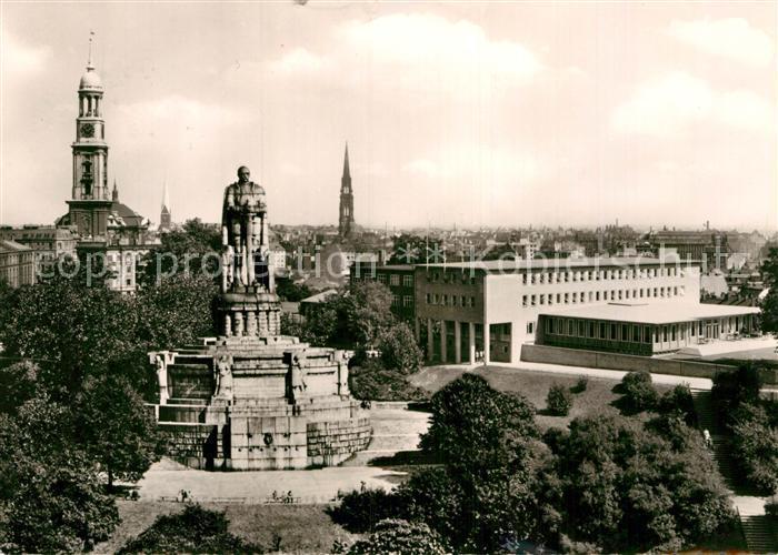 AK / Ansichtskarte Hamburg St. Michaeliskirche Bismarck Denkmal  Kat. Hamburg