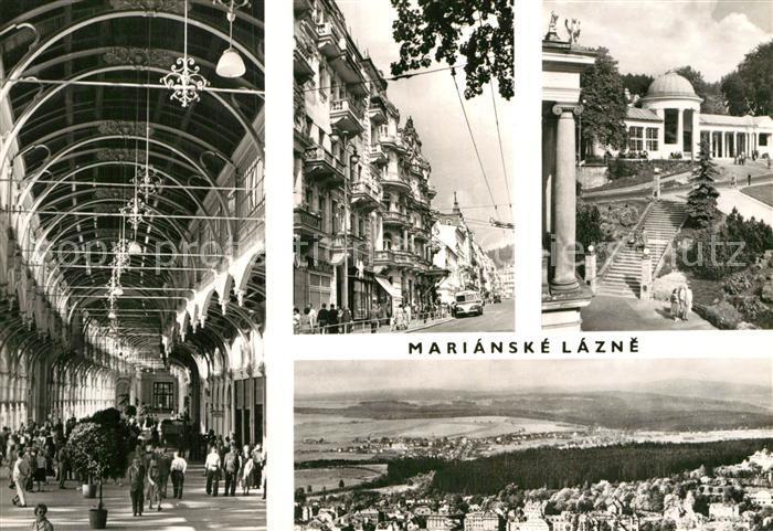 AK / Ansichtskarte Marianske Lazne Teilansichten Kat. Marienbad