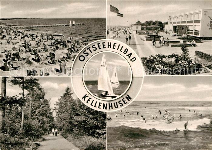 AK / Ansichtskarte Kellenhusen Ostseebad Strand Segelboot  Kat. Kellenhusen (Ostsee)