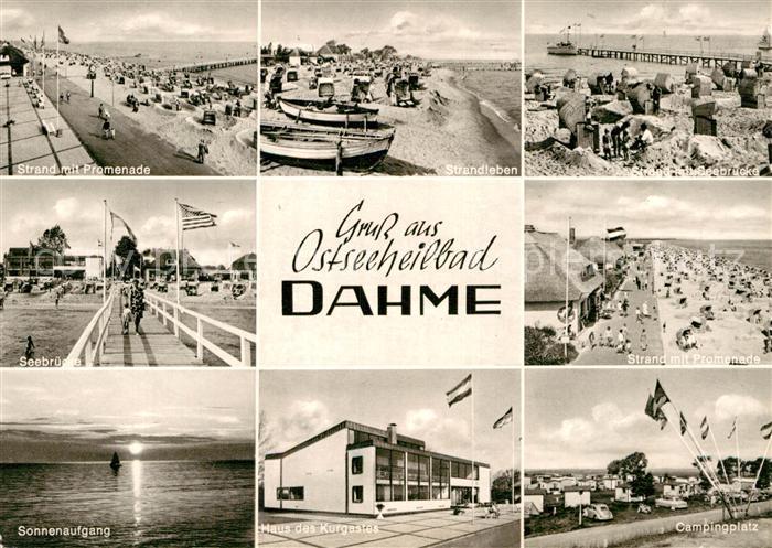 AK / Ansichtskarte Dahme Ostseebad Campingplatz Haus des Kurgastes  Kat. Dahme
