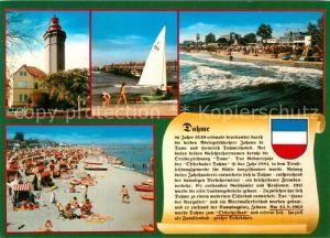 AK / Ansichtskarte Dahme Ostseebad Leuchtturm Strand Kat. Dahme