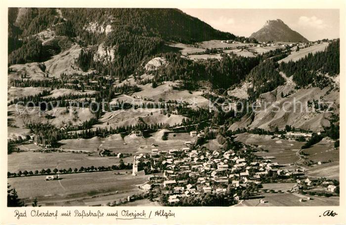 AK / Ansichtskarte Bad Oberdorf Panorama Passstrasse  Kat. Bad Hindelang