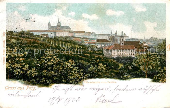 AK / Ansichtskarte Prag Prahy Prague Hradschin von Petrin Kat. Praha