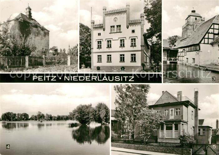 AK / Ansichtskarte Peitz Festungsturm Rathaus Hammerwerk Teiche Ambulatorium Kat. Peitz