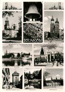 AK / Ansichtskarte Krakow Krakau Kosciol Mariacki Katedra na Wawelu Brama Florianska