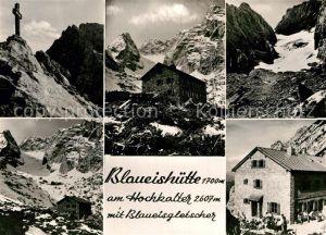 AK / Ansichtskarte Blaueishuette Blaueisgletscher Kat. Hochkalter Ramsau