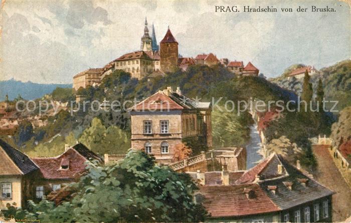 AK / Ansichtskarte Prag Prahy Prague Hradschin von der Bruskad Kat. Praha