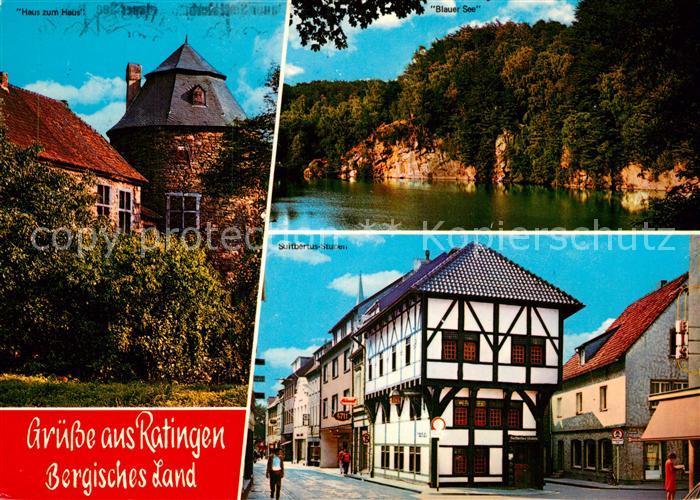 AK Ansichtskarte Ratingen Haus zum Haus Blauer See