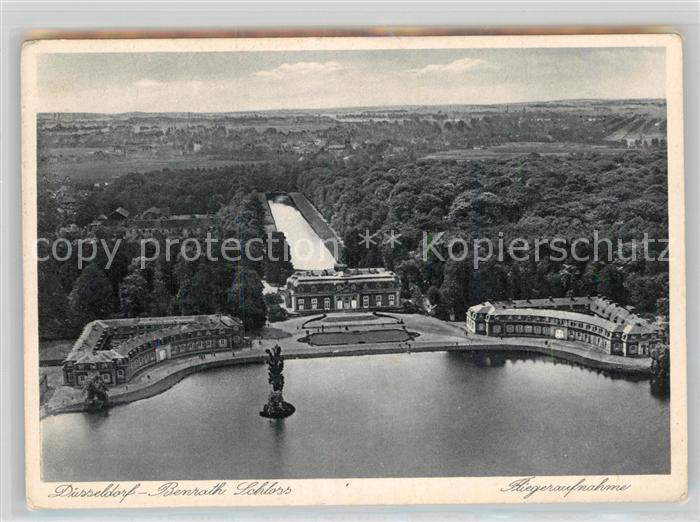 AK / Ansichtskarte Benrath Schloss Fliegeraufnahme Kat. Duesseldorf