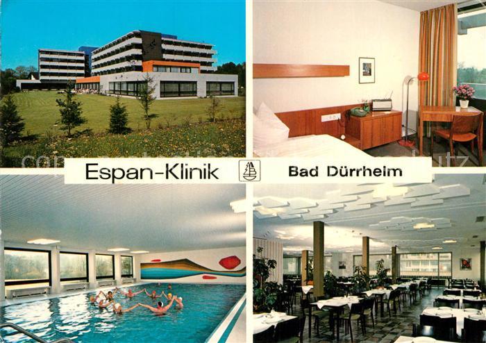 Ak ansichtskarte bad duerrheim espan klinik schwimmbad for Schwimmbad bad durrheim