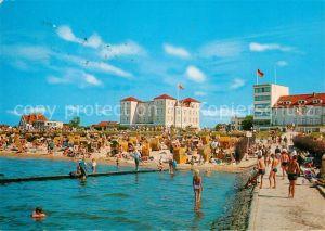 AK / Ansichtskarte Cuxhaven Duhnen Nordseebad Strand mit Strandhotel und Ove Ovens Haus