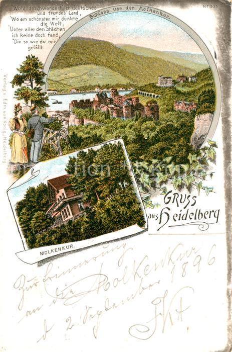 AK / Ansichtskarte Heidelberg Neckar Schloss Molkenkur Kat. Heidelberg