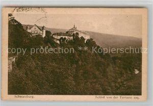 AK / Ansichtskarte Schwarzburg Thueringer Wald Schlossblick von der Terrasse Kat. Schwarzburg