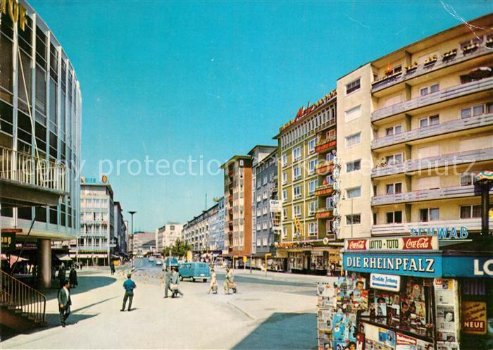 AK / Ansichtskarte Ludwigshafen Rhein Ludwigstrasse Kiosk Kat. Ludwigshafen am Rhein