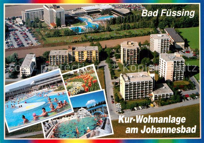 AK / Ansichtskarte Bad Fuessing Kur Wohnanlage am Johannesbad Thermalbad Fliegeraufnahme Kat. Bad Fuessing