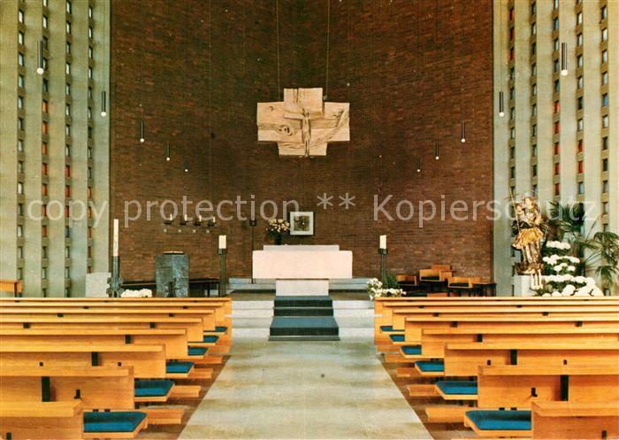 AK / Ansichtskarte Oberkotzau Pfarrkirche St Antonius Innenansicht Kat. Oberkotzau
