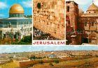 AK / Ansichtskarte Jerusalem Yerushalayim Western Wall Tempel Mount and Christians worship Holy Sepulchre Kat. Israel