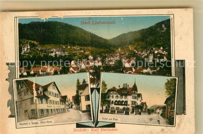 AK / Ansichtskarte Bad Liebenzell Hotel Zur Post Gasthaus zur Sonne Panorama  Kat. Bad Liebenzell