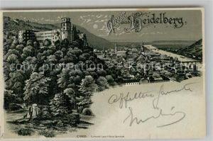 AK / Ansichtskarte Heidelberg Neckar Schloss Panorama  Kat. Heidelberg