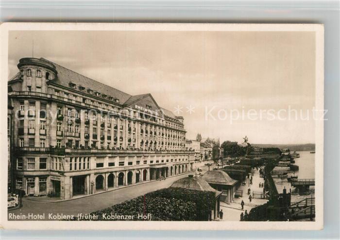 AK / Ansichtskarte Koblenz Rhein Rhein Hotel Koblenz Kat. Koblenz
