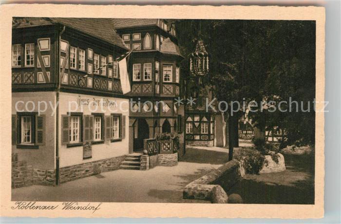 AK / Ansichtskarte Koblenz Rhein Haus der Mosel im Koblenzer Weindorf Kat. Koblenz