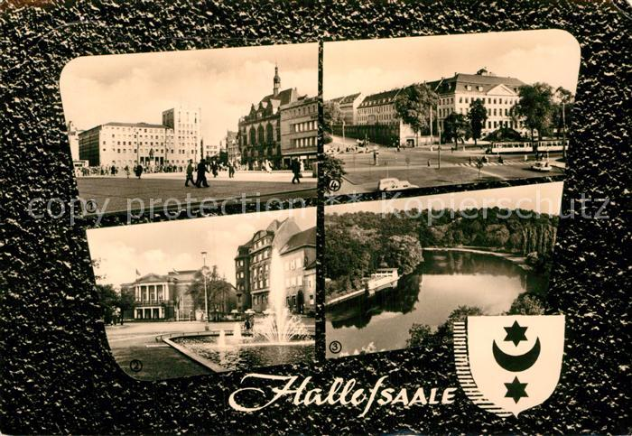 AK / Ansichtskarte Halle Saale Marktplatz Theater  Kat. Halle