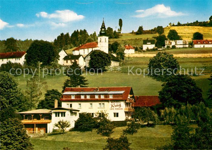 AK / Ansichtskarte Warmensteinach Hotel Krug  Kat. Warmensteinach Fichtelgebirge
