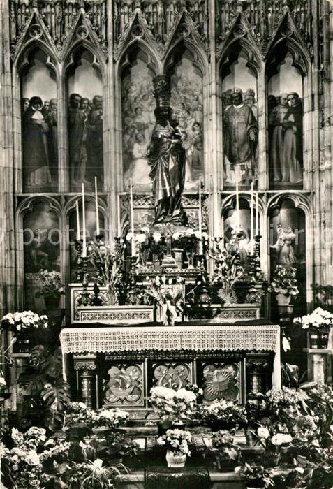 AK / Ansichtskarte Tongeren Steinbild in Kirche Kat.