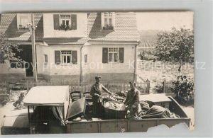 AK / Ansichtskarte Gersthofen Maenner auf Lastkraftwagenpritsche Kat. Gersthofen