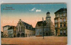 AK / Ansichtskarte Dortmund Marktplatz mit Rathaus Kat. Dortmund