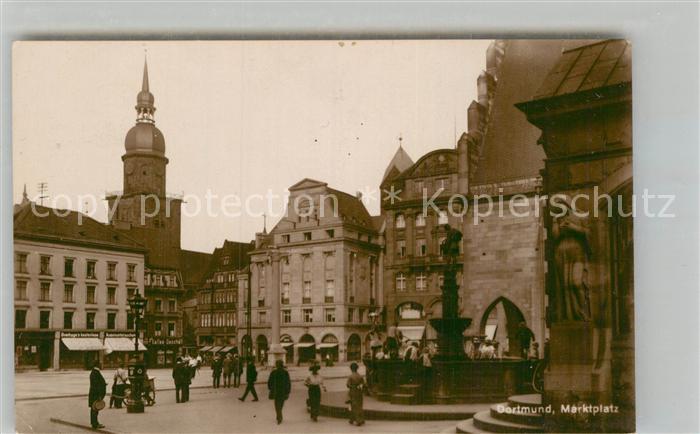 AK / Ansichtskarte Dortmund Marktplatz Kat. Dortmund