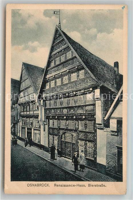 AK / Ansichtskarte Osnabrueck Renaissance Haus Bierstrasse Kat. Osnabrueck