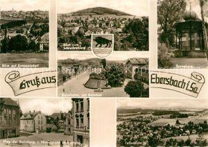 AK / Ansichtskarte Ebersbach Sachsen Kottmarsdorf Schlechteberg Bahnhofstrasse Bahnhof Spreeborn Platz der Befreiung Hainschule Kat. Ebersbach Sachsen