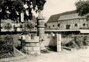 AK / Ansichtskarte Uebigau Wahrenbrueck Marktplatz Brunnen Kat. Uebigau Wahrenbrueck