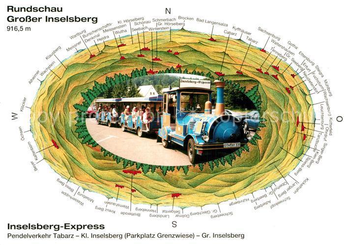 AK / Ansichtskarte Grosser Inselsberg Inselsberg Express Rundschau  Kat. Brotterode