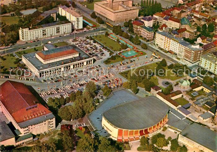 AK / Ansichtskarte Karlsruhe Baden Fliegeraufnahme Festhallenplatz
