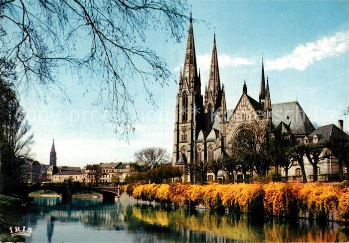 AK / Ansichtskarte Strasbourg Alsace Les rives fleuries de l Ill Cathedrale Kat. Strasbourg