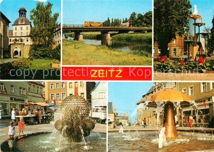 AK / Ansichtskarte Zeitz Schloss Moritzburg Friedrich Engels Bruecke Karl Marx Promenade Dr Wilhelm Kuelz Platz Leninstrasse Brunnen Kat. Zeitz