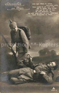 AK / Ansichtskarte Stolzenfels WK1 Verwundeter Soldat mit Kamerad Kat. Koblenz Rhein