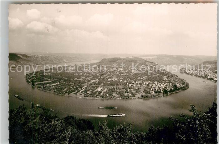 AK / Ansichtskarte Boppard Rhein Panorama Fliegeraufnahme Kat. Boppard