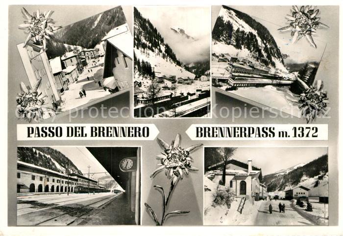 AK / Ansichtskarte Brennerpass Winterpanorama Bahnhof Alpenpass Kat. Italien