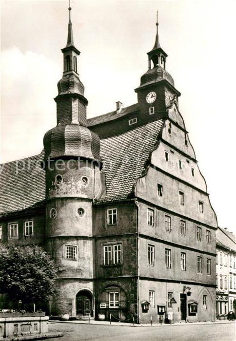 AK / Ansichtskarte Hildburghausen Rathaus Chronik Kat. Hildburghausen