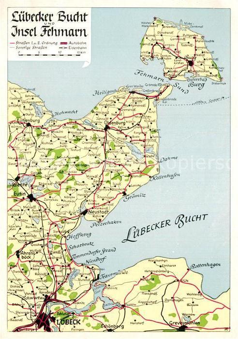 Fehmarn Karte Insel.Ak Ansichtskarte Landkarte Auf Ak Luebecker Bucht Insel Fehmarn Kat Besonderheiten