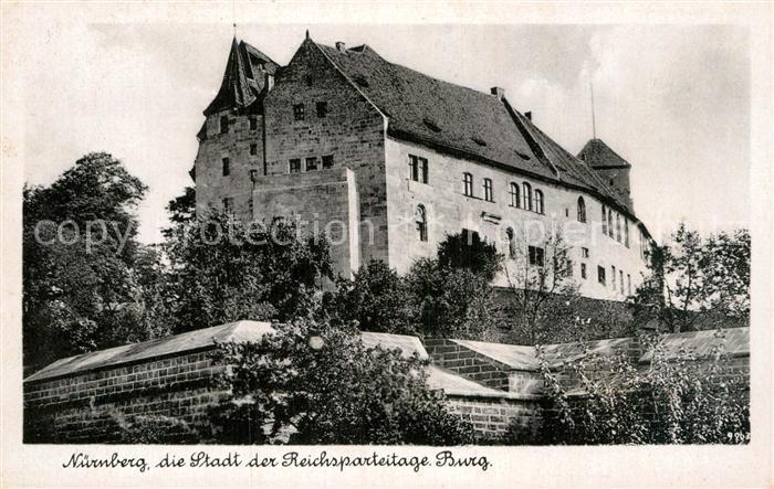 AK / Ansichtskarte Nuernberg Burg Stadt der Reichsparteitage Bromsilber Imitation Kat. Nuernberg