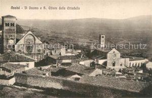 AK / Ansichtskarte Assisi Umbria Il Duomo e Santa Chiara dall Cittadella Kat. Assisi