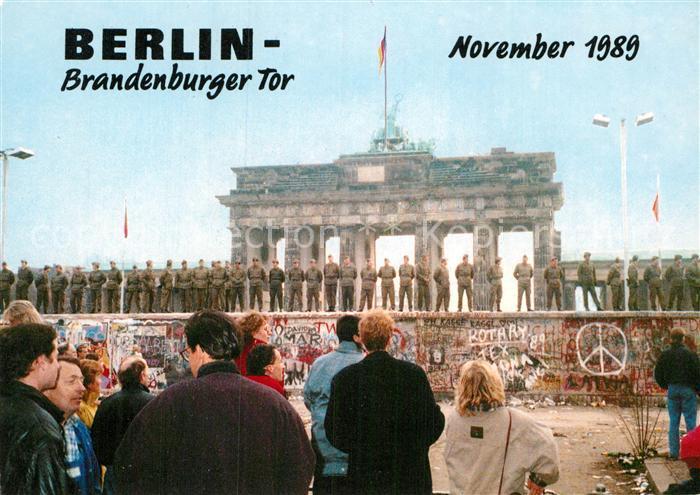 AK / Ansichtskarte Berlin Brandenburger Tor November 1989 Kat. Berlin