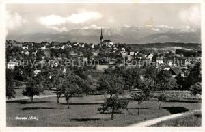 AK / Ansichtskarte Gossau ZH Gesamtansicht mit Alpenpanorama Kat. Gossau ZH
