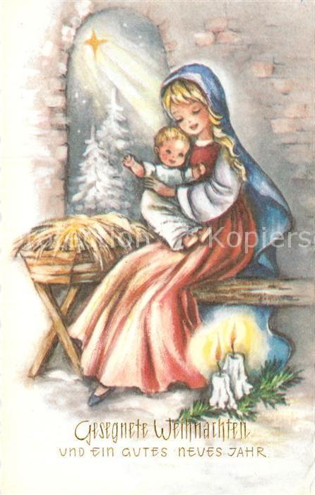 Christkind Bilder Weihnachten.Ak Ansichtskarte Weihnachten Neujahr Christkind Heilige Maria Kat Greetings