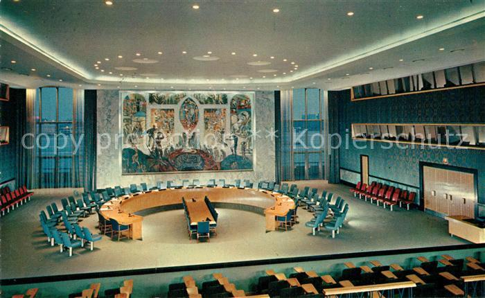 AK / Ansichtskarte Politik Security Council Chamber New York United Nations Headquarters  Kat. Politik